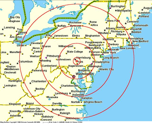 Three Mile Island The Rest Of The Story - Us nuclear plant meltdown map