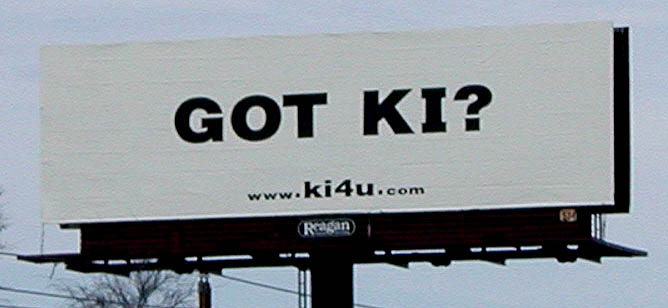 Our 'Got KI' billboard by the Austin airport