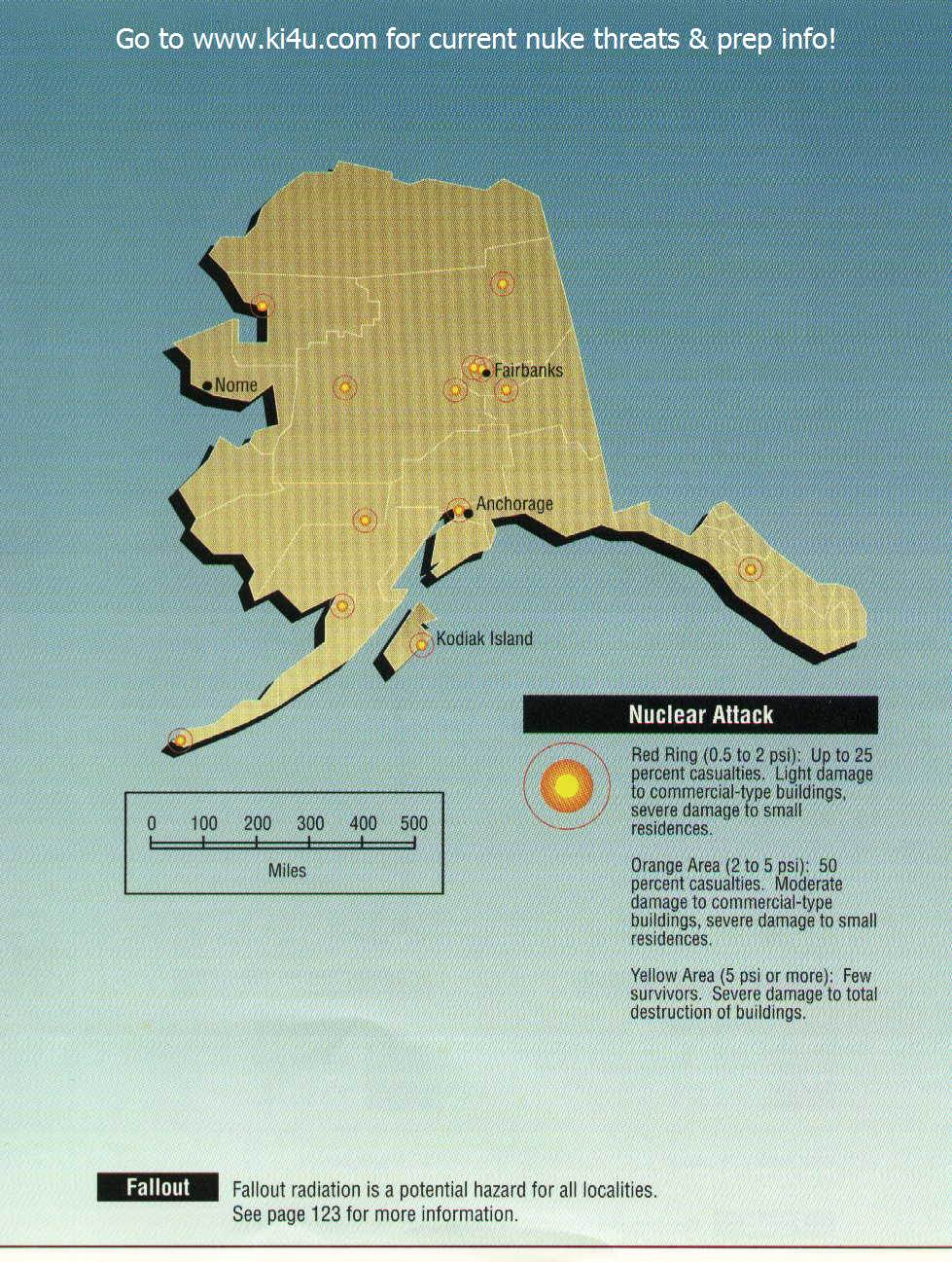 Nuclear War Fallout Shelter Survival Info For Alaska With FEMA - Us nuclear war fallout map