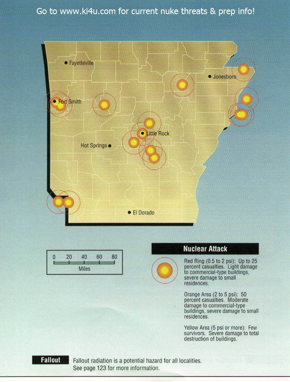 Nuclear War Fallout Shelter Survival Info for Arkansas with ...