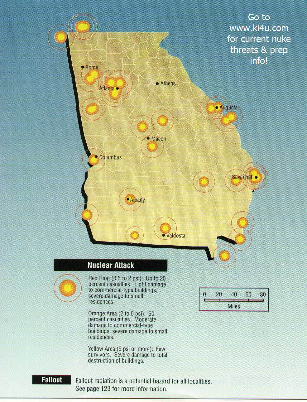 Nuclear War Fallout Shelter Survival Info For Georgia With FEMA - Us nuclear war fallout map