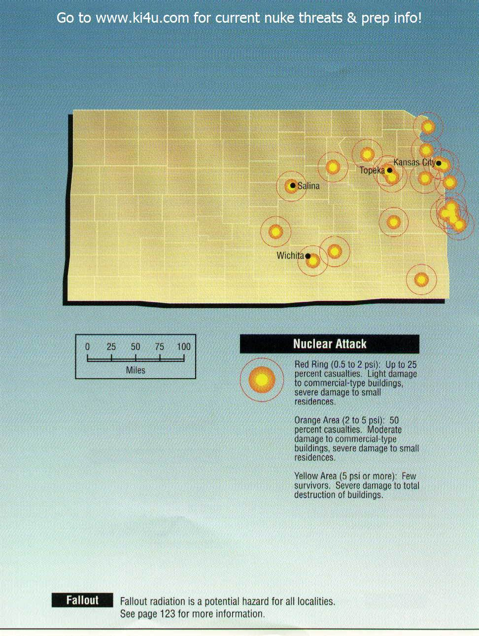 Nuclear War Fallout Shelter Survival Info for Kansas with FEMA