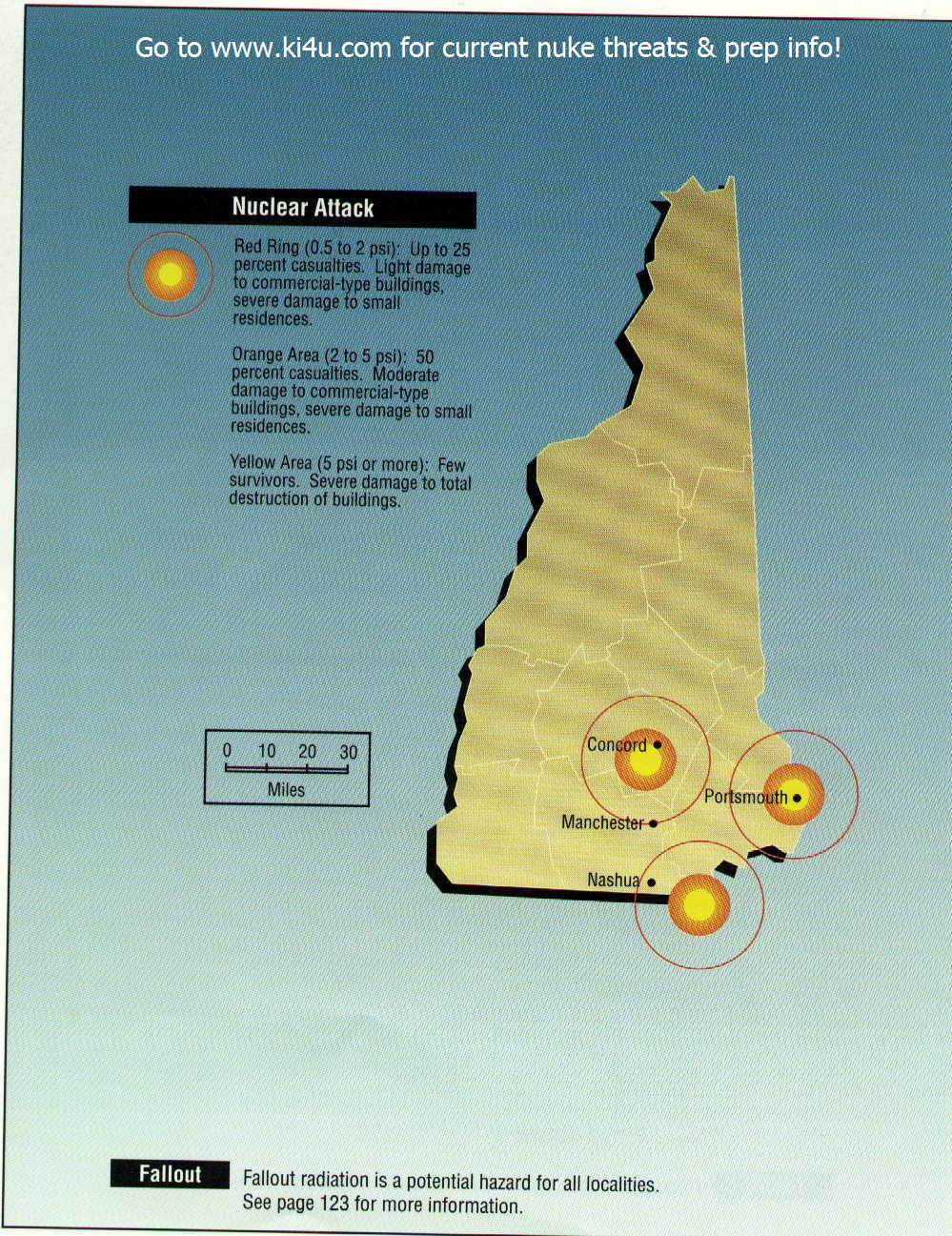 nuclear weapon target map for new hampshire fema 196september 1990 new hampshire targets