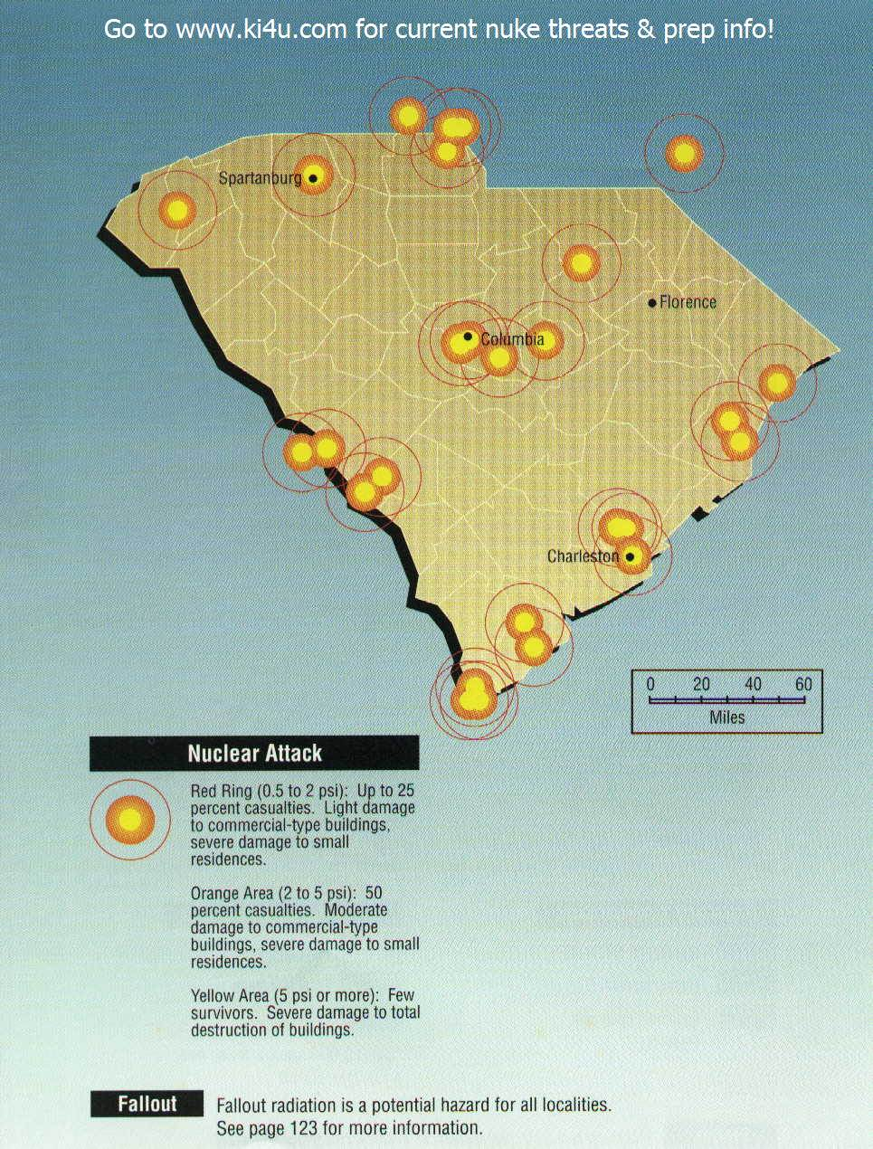 Nuclear War Fallout Shelter Survival Info for South Carolina with ...