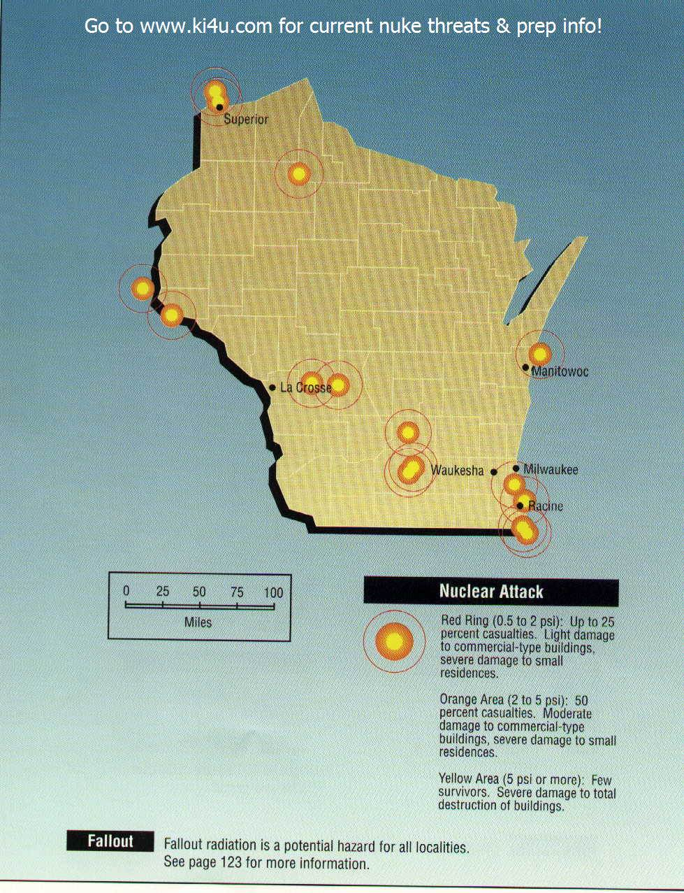 nuclear weapon target map for wisconsin fema 196 september 1990 wisconsin targets